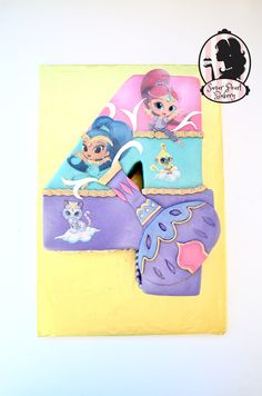 Shimmer and shine birthday cake www.sugarpearlbakery.com www.facebook.com/sugarpearlbakery