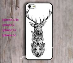 Deer Reindeer Caribou Wolf Dog Wolves Bear by charmcover on Etsy, $7.99