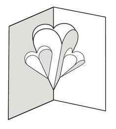 Hearts pop-up card... Instructions for kids over 5 to do with little supervision.