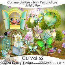 Spring Mix - CU Vol 62 by MagicalReality Designs #CUdigitals cudigitals.com cu commercial digital scrap #digiscrap scrapbook graphics