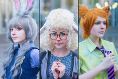"""We are by gnitae.deviantart.com on @DeviantArt - Judy Hopps, Dawn Bellwether, and Nick Wilde from """"Zootopia""""; uploaded by the first"""