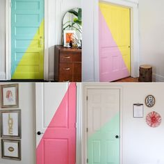 she shed interior craft Painted Bedroom Doors, Painted Doors, Deco Cool, Dream Rooms, New Room, Girl Room, House Colors, Home Interior Design, Room Inspiration