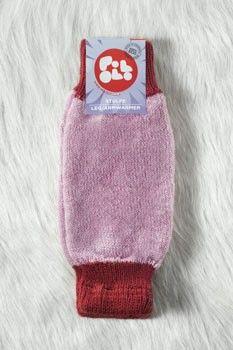 Scaldamuscoli lana rosa Pololo: perfetti anche come scaldabraccia per le bimbe più grandi!