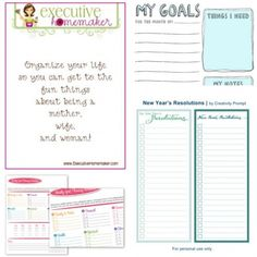 These 50 free printables include worksheets for New Year resolutions goals, 2012 printable calendars, checklists for busy moms, free kids chore charts, meal plans and checklists for groceries, couponing, & fitness goals!  Let's not forget to mention printable tags as well as budget and home finance