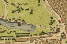 Wellingtons Travel 1800s style #London Hyde Park Map