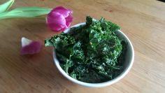 Raw kale with tahini and garlic