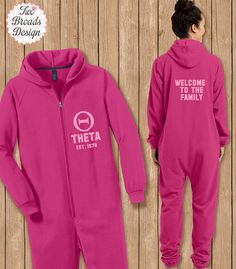 Sorority PJ's Adult Onesie Pajamas Big Little by TwoBroadsApparel