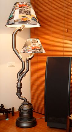 Table lamp made by me car parts art pinterest floor lamp by karim sassine lamp from car parts aloadofball Image collections