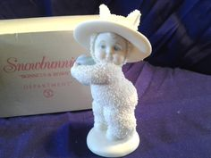 Snowbunnies Bonnets & Bows Collectible Figurine with box DEPT 56 Snowbabies | eBay