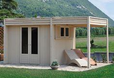 Casetta in legno sofisticata ottima come zona relax  nel vostro giardino/ Sophisticated wooden house, definitely your relax garden solution