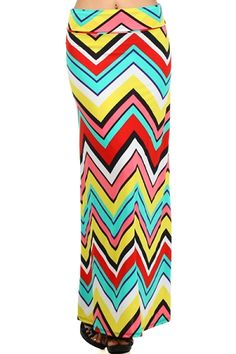 Jada Chevron Maxi Skirt