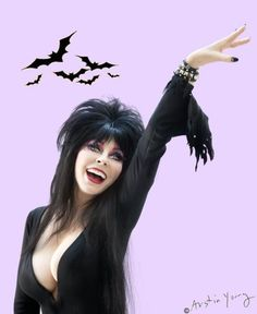 Elvira / Cassandra Peterson!  She is fabulous!  I adore her!  <3 <3 <3