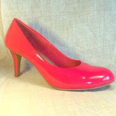"Hot pink heels. Comfort Plus!  Super comfy hot pink heels. 3"" heel Comfort Plus by Predictions Shoes Heels"