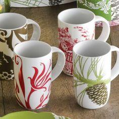 Boho Mugs Set of 6