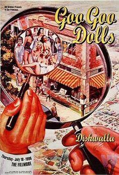 Original concert poster for Goo Goo Dolls at the Fillmore in San Francisco, CA. 13