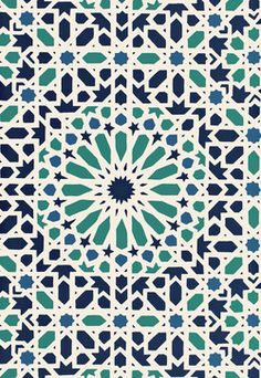 Nasrid Palace Mosaic eclectic wallpaper by Schumacher ... Need this in my powder room