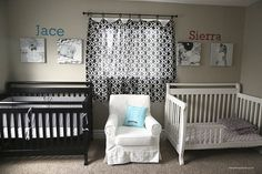 Beautiful nursery put together by Jamielyn with Shutterfly canvases