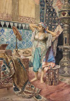 Rudolf Ernst (1854-1932), La favorite du harem