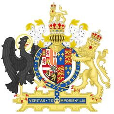 Coat of Arms of England (1554-1558) used by Mary I