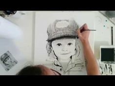 "Speed Painting Portrait ""Jonah"" by Angela Simone - YouTube"