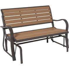Lifetime Wood Alternative Patio Glider Bench-60055 at The Home Depot   I would love one of these
