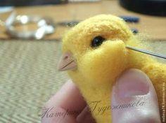 "Tutorial Needle Felted Chick Мастер-класс: сувенир к пасхе ""валяный цыпленок"" - Ярмарка Мастеров - ручная работа, handmade"