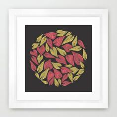 Spring Wind Framed Art Print #leaves #wind #nature #poster #print #home #decor #spring