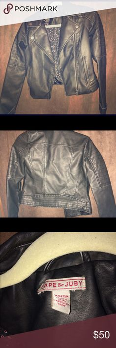 Leather Jacket It has never been worn, black, from Aeropostale!! Aeropostale Jackets & Coats