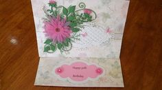 Birthday card with Soft Pink Vellum flowers.