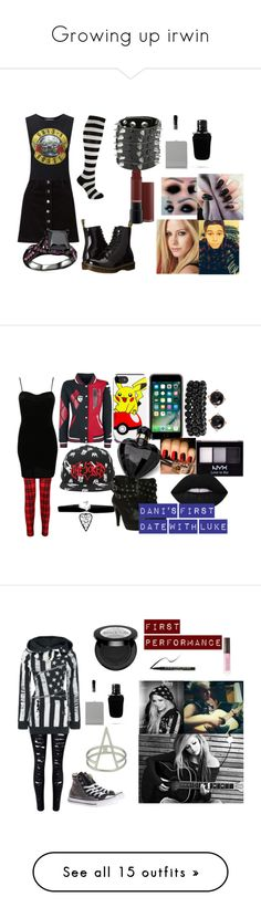 """""""Growing up irwin"""" by dani-lehmiller on Polyvore featuring Miss Selfridge, Dr. Martens, Givenchy, Pilot, Lipsy, Bling Jewelry, Irene Neuwirth, NYX, Abbey Dawn and Lime Crime"""