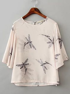 Shop Dragonfly Print Bell Sleeve Top online. SheIn offers Dragonfly Print Bell Sleeve Top & more to fit your fashionable needs.