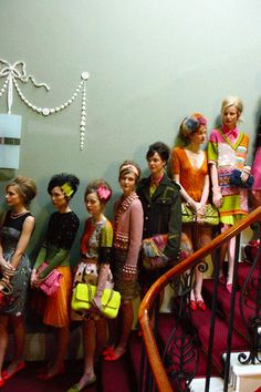 Models before the Moschino Cheap & Chic AW12 show