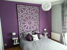 Best Glidden Interior Paint Colors for a Purple Bedroom Purple Bedroom Walls, Purple Bedrooms, Bedroom Wall Colors, Bedroom Decor, Master Room, Dream Home Design, New Room, Interior Design, Design Design