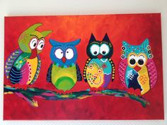 Used Hobbies For Sale Fabric Painting, Painting & Drawing, Glue Art, Owl Art, Art Party, Whimsical Art, Doodle Art, Cute Drawings, Painting Inspiration