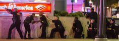 Agentes de la policía de Dallas responden al tiroteo.