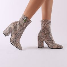 06c0d379724 Renzo Sock Fit Ankle Boots in Snake Print