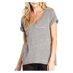 good hYOUman Women's Aiden Family Graphic V-Neck T-Shirt, Size: Medium, Gray