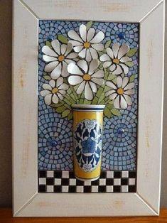 Mosaico pique assiette - DIY - Faça você mesmo
