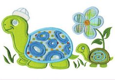 Dreams Free Embroidery: Baby Turtle Free Embroidery