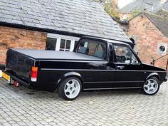 DubLove Vw Rabbit Pickup, Vw Pickup, Volkswagen Golf Mk1, Vw Mk1, Golf Picks, Vw Caddy Mk1, Combi Vw, Vw Cars, Cool Cars