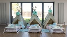 Mermaid theme indoor sleepover party Slumber Party Birthday, Birthday Party Games For Kids, Sleepover Party, Slumber Parties, Childrens Teepee, Childrens Party, Canvas Bell Tent, Bed Linen Sets, Outdoor Parties