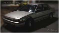 '88 Honda Accord LX -- this was my company car for a while.  Until I was 'upgraded' to a Chevrolet Celebrity.  Really?!
