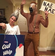The couple that laugh & giggles together, scares together, stays together. Enjoy hilarious couples Halloween costumes of the day. These funniest costume ideas are perfect for couples who creep it real. Clever Couples Halloween Costumes, Funny Couple Costumes, Best Couples Costumes, Fairy Halloween Costumes, Easy Diy Costumes, Funny Couples, Couple Halloween, Cool Costumes, Adult Costumes