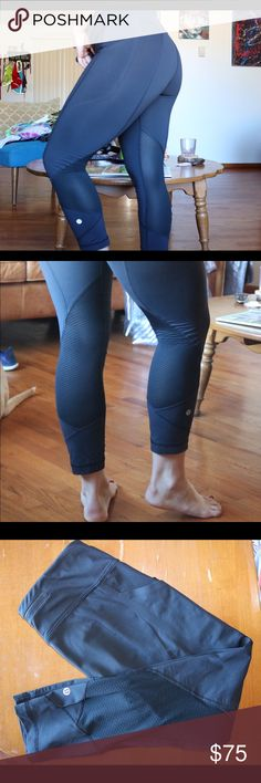 Lululemon Pace Rivals These have two side pockets, mesh paneling, two front waistband pockets, a back zipper pocket, and a pull string waistband. Perfect condition. Luxtreme fabric for sweat wicking. Tight fit, regular rise. lululemon athletica Pants Leggings