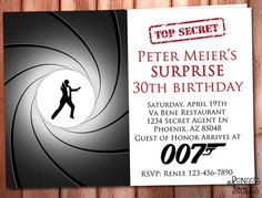Casino royale 007 bond invitation the names bond james bond spy james bond 007 printable invitation for surprise birthday or bachelor parties stopboris Choice Image