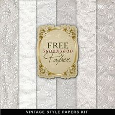 Freebies Vintage Style Papers Kit