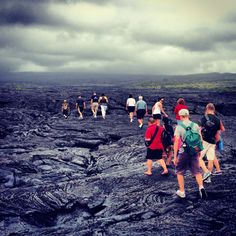 Lava Walk. Hilo, Hawaii. We did this, and it's very cool with gorgeous photo ops. Afterward they take you to a shop where you can purchase locally made items - their chocolate is the best!