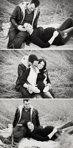 Maternity photo shoot...they look cozy for   cool weather...when ours will probably take place