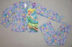TINKERBELL Pajamas Girls 7/8 Sleep Pants & Shirt 2 piece FAIRIES Set 7 8 Medium #Disney #PajamaSet