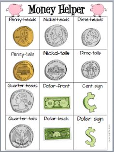 Me the Money! Classroom Freebies Too: Show Me the Money!Classroom Freebies Too: Show Me the Money! Money Activities, Math Resources, Classroom Resources, Stem Activities, Classroom Freebies, Math Classroom, Classroom Ideas, Apple Classroom, Teaching Money